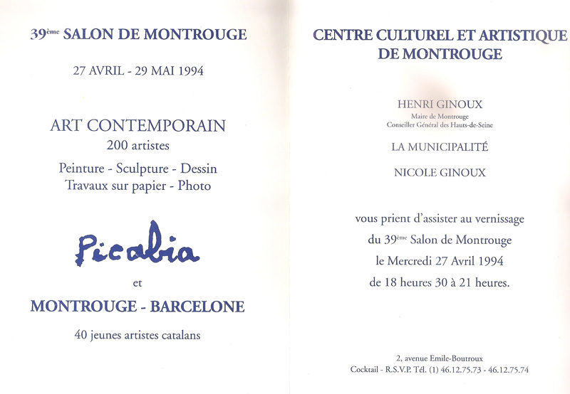 Invitation – 39TH SALON DE MONTROUGE